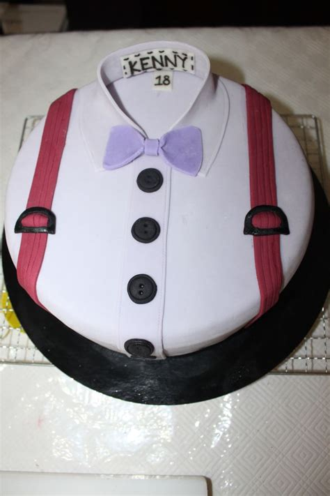 Shirt With Bow Tie Cake By Kendra Ly Creations