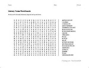 Kitchen Literacy Definition Literary Terms Word Search Edit The Words To Be The