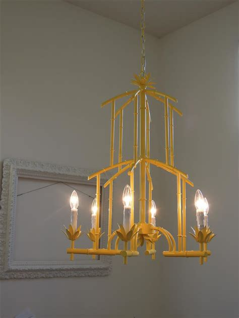 My Chandelier A Vintage My Yellow Chandelier