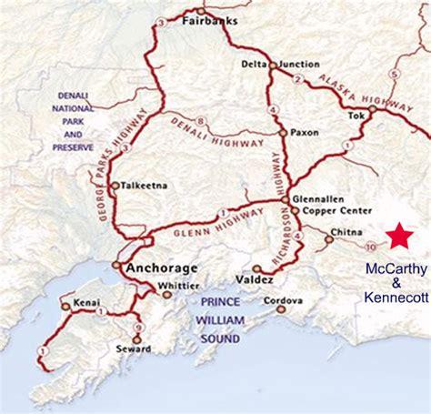 printable road map of alaska alaska road map and chart of driving times
