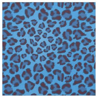 light blue leopard print fabric blue leopard fabric zazzle