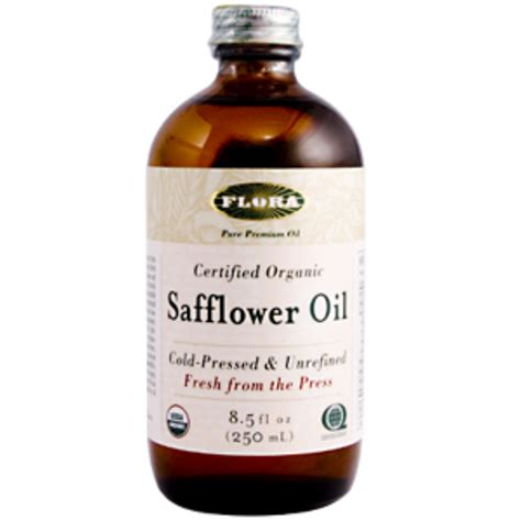 flora certified organic safflower oil 8 5 fl oz 250 ml