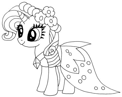 my little pony group coloring pages rarity by elfkena on deviantart