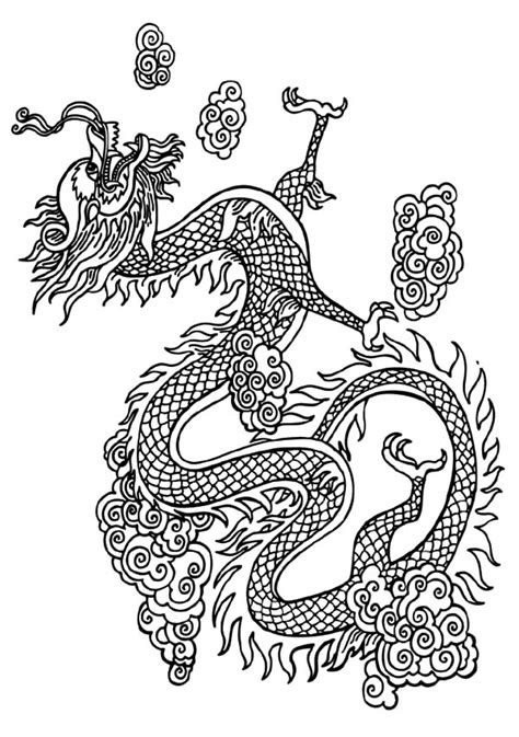 vietnamese dragon coloring page netart 1 place for coloring for kids part 6
