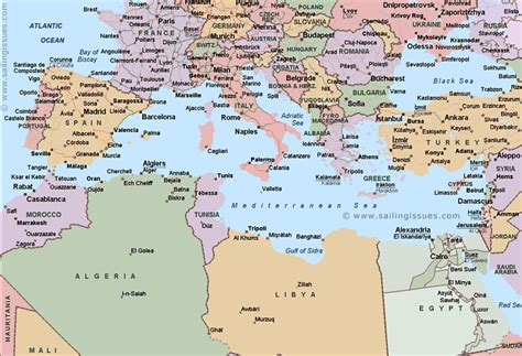 map of mediterranean map of the mediterranean