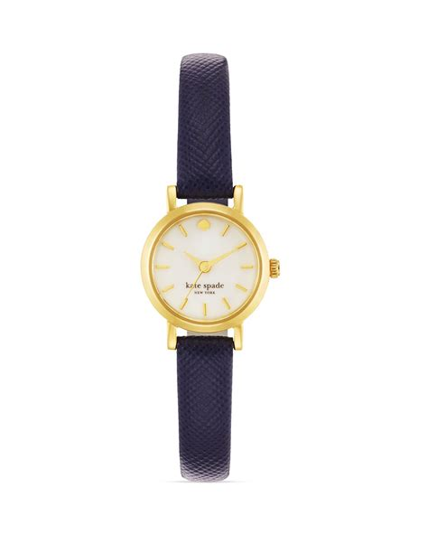 Jual Kate Spade Mini Navy Blue 1 kate spade new york tiny metro navy leather 20mm in blue lyst