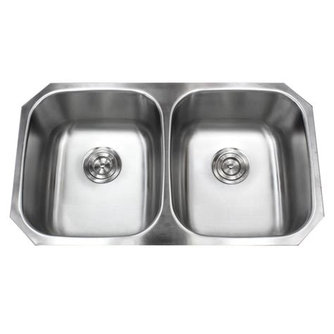 50 inch double sink 32 5 inch stainless steel 18 gauge double 50 50 bowl