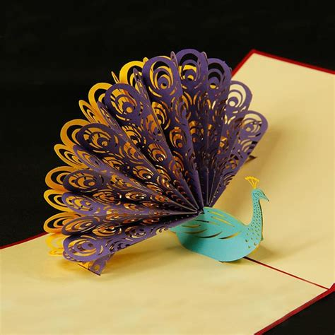 peacock  pop  greeting card pop  cards pop