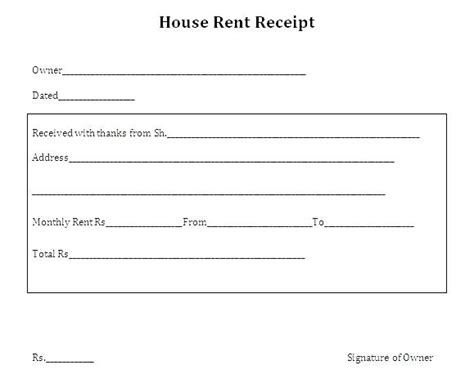 house rent receipt india kinoroom club
