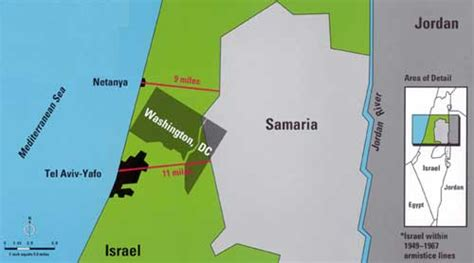 relative geographical size  israel maps