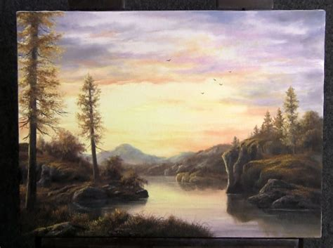 all painting paint with kevin hill sunset lake