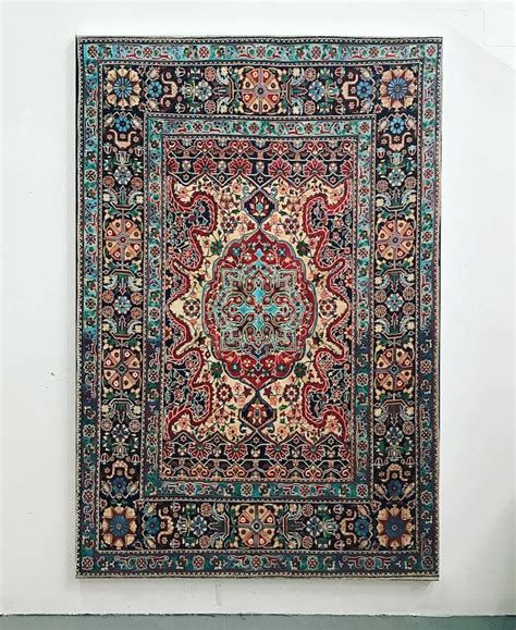 painting rugs contemporary painting of intricately patterned rugs by jason seife