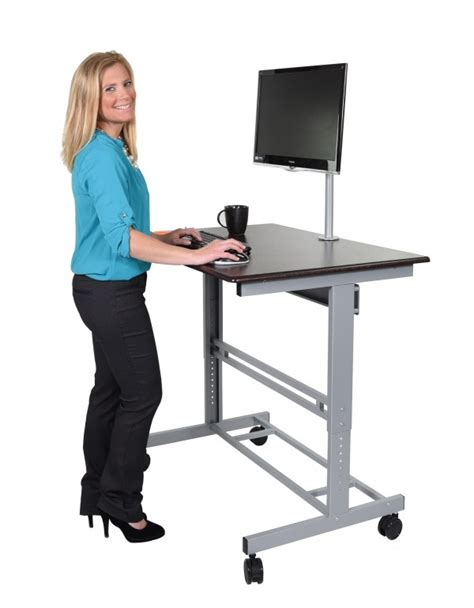 Adjustable Stand Up Desk With Monitor Mount Stand Up Standing Desk Monitor Mount