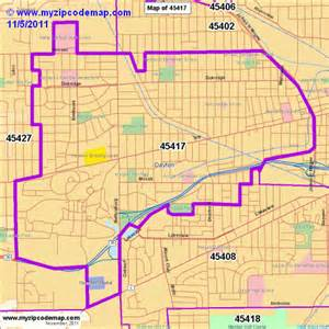 Dayton Oh Zip Code Map by Zip Code Map Of 45417 Demographic Profile Residential