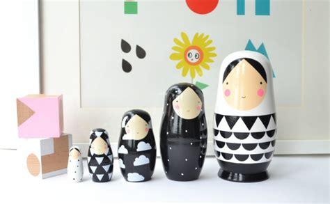 black doll inc leo sketch inc nesting dolls black and white