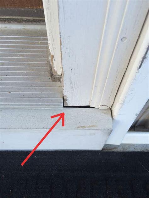 gap door caulking how to fill gap in front door trim home