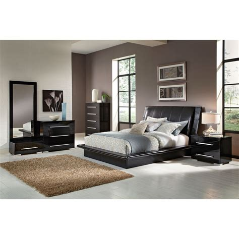 7 piece bedroom set king dimora 7 piece king upholstered bedroom set black