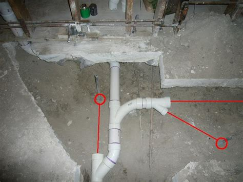 Concrete Plumbing moving plumbing a concrete slab how to build a house