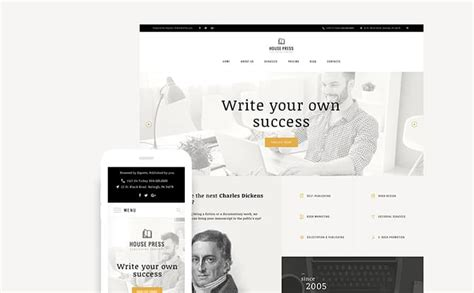 wordpress themes publishing house 6 steps to building an awesome author website plus great