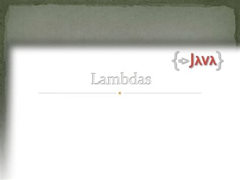 java 8 lambda design pattern java 8 lambda and streams