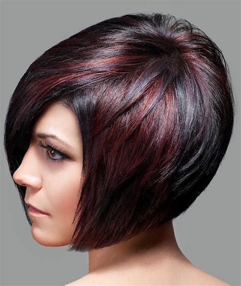short haircut with red tint and highlights ombre highlights on short hair bob short hairstyle form