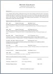 Free Will Writing Template Uk by Cv Template Free Cv Exle
