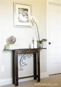 diy narrow sofa table pinterest