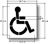 handicap parking stencils handicapped parking space