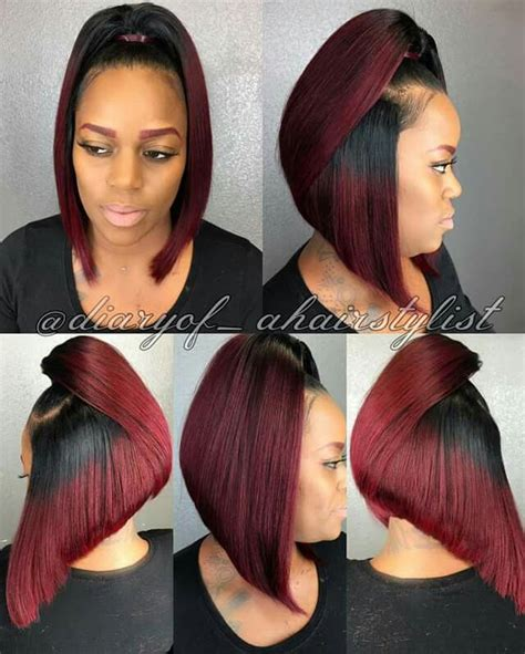 bob short pony tail hair cu 25 best ideas about black weave hairstyles on pinterest