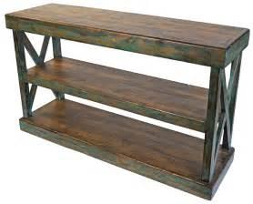 rustic sofa tables rustic sofa table console antler thesofa