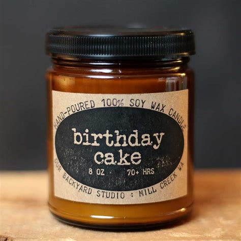 state candles birthday cake soy jar candle hand poured right here in