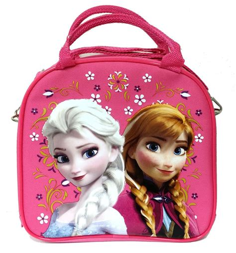 Disney Frozen Lunch Box Pink disney frozen elsa lunch box bag with shoulder