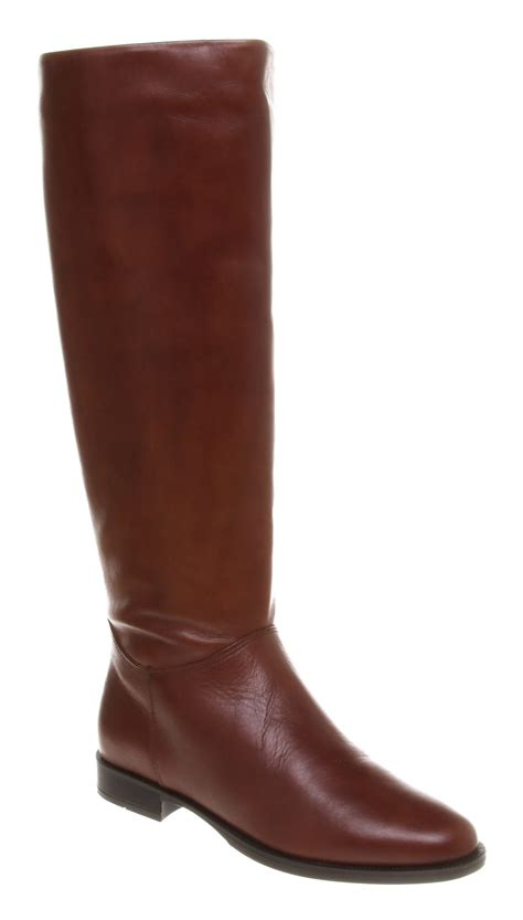 cognac leather boots womens office equestrian boot cognac leather boots ebay