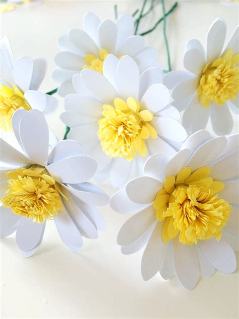 daisy paper flower pattern paper daisies tutorial only just becoming