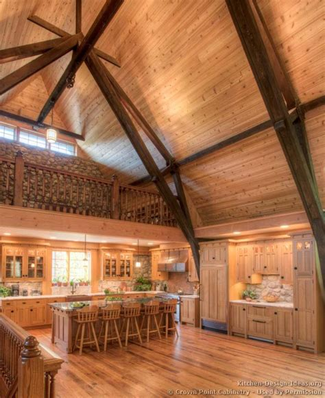 Log Cabin Ceilings by Log Home Kitchens Pictures Design Ideas