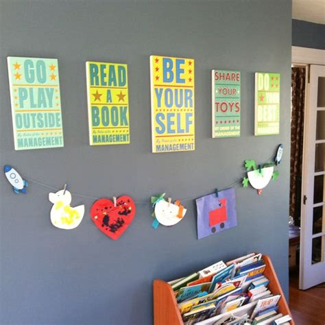 Playroom Wall Decor by Our Playroom Wall Decor Decorations