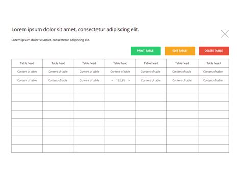 table templates table template sketch freebie free resource for