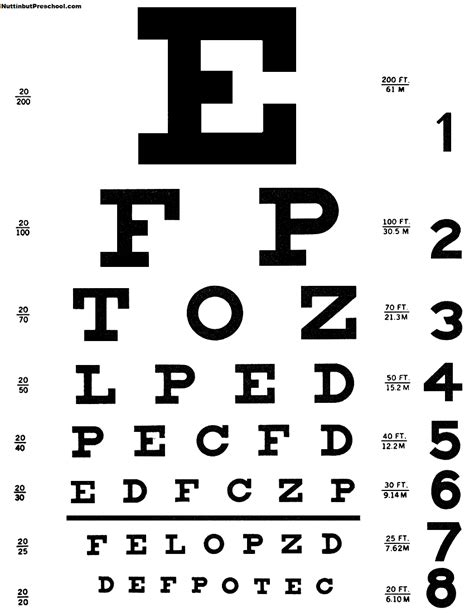 printable eye chart pdf eye doctor eye chart for house corner nuttin but preschool