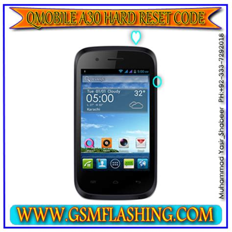 Q Mobile Factory Format   qmobile a30 mobile hard reset and format factory code