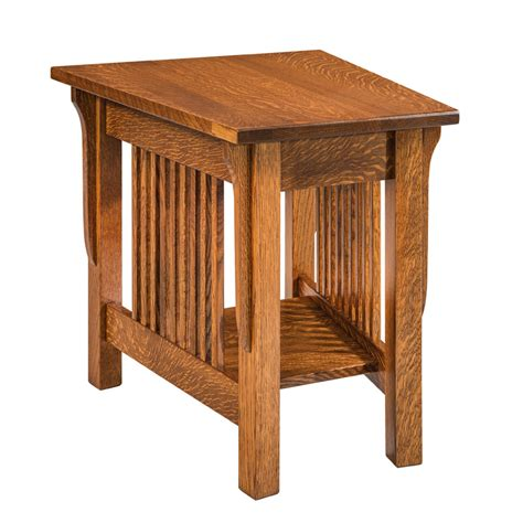 rustic wedge end table lancaster wedge end table shipshewana furniture co