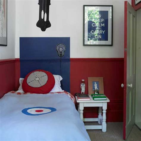 red and blue childrens bedroom boys bedroom ideas and decor inspiration ideal home