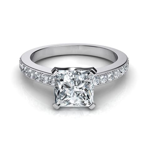novo princess cut engagement ring