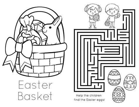 Easter Color Pages Printable by Printable Easter Coloring Book Happiness Is