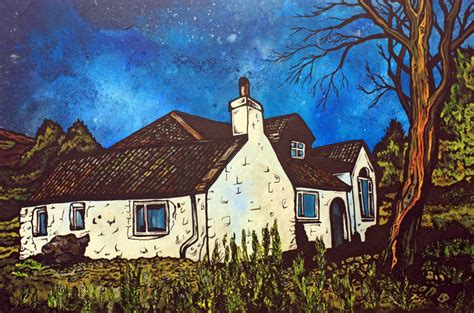 highland cottages scotland contemporary landscape paintings and prints of the