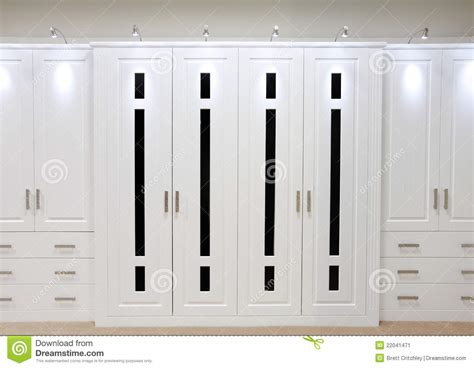 Apartment Bathroom Designs by White Fitted Wardrobe Doors Stock Image Image 22041471