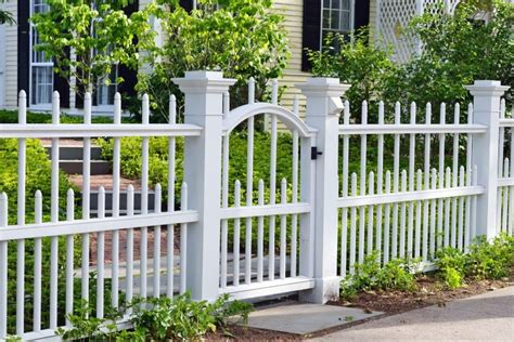 white backyard fence fence styles and designs for backyard front yard images