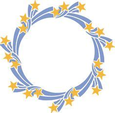 star wreath cut file svg dxf png  products