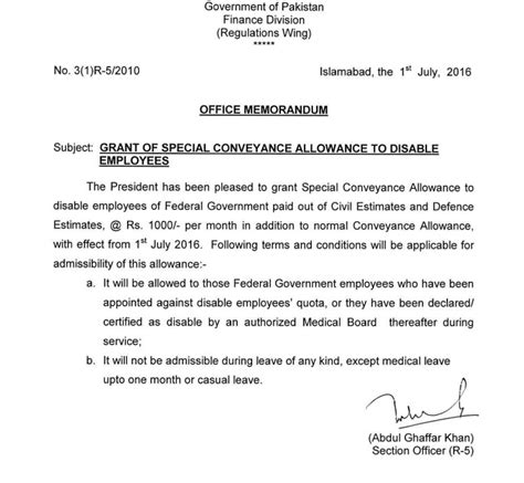 Transportation Allowance Request Letter Exle notification of special conveyance allowance to special