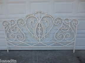 white wicker king size headboard peacock king size headboard wicker victorian white