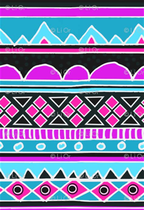 tribal pattern blue and pink hot pink and bright blue aztec tribal pattern fabric